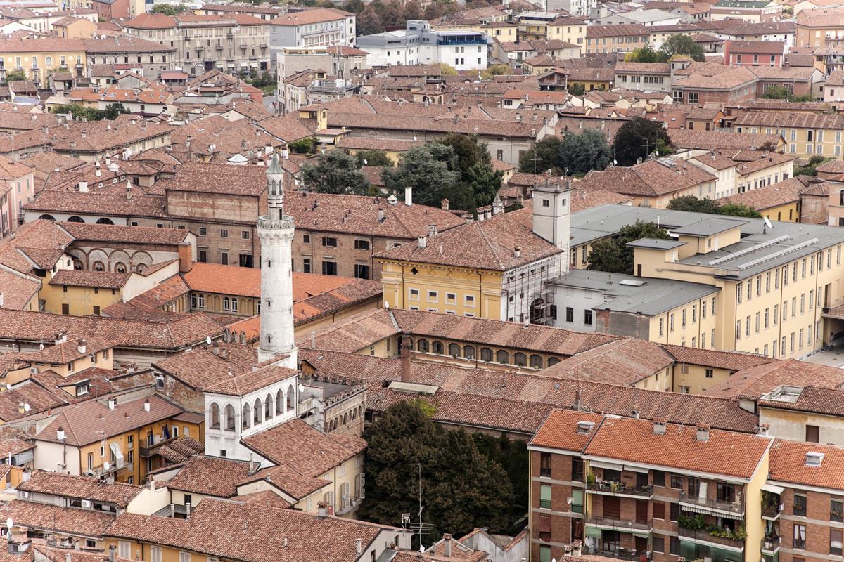 Veduta aerea del centro storico di Cremona