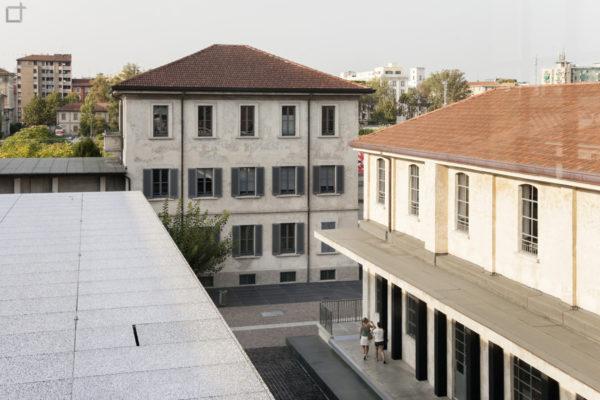 Vista dall alto del Podium e Biblioteca