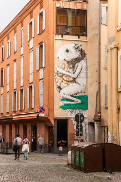 Murales Modena - Ericailcane Il canto Anarchico
