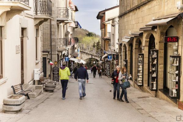 Negozi e vie del centro storico