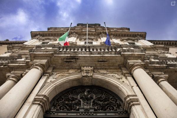 Palazzo Ducale di Modena - Ingresso e bandiere