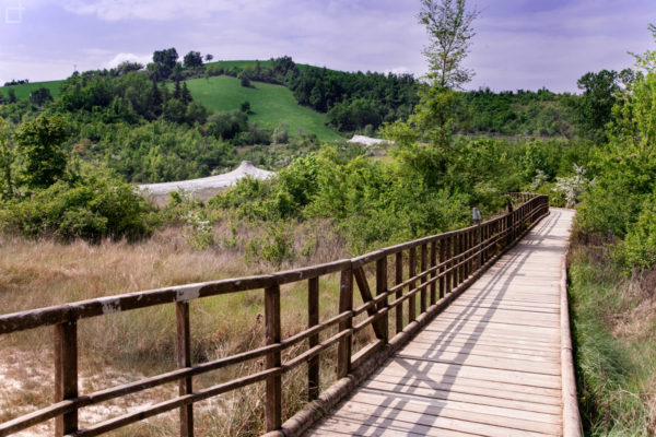 Passerella di Legno con Vulcani Fangosi Emilia Romagna