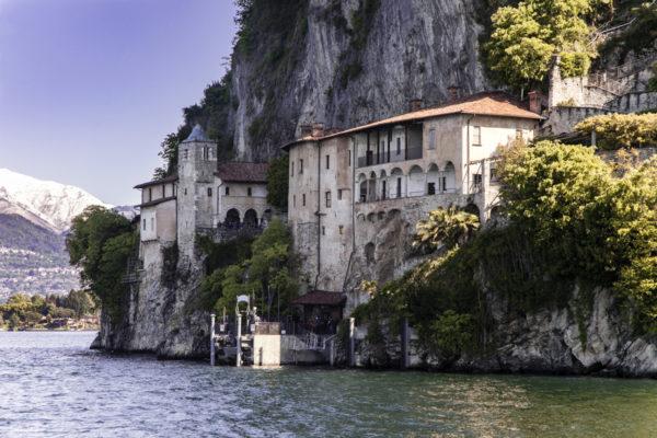 Eremo di Santa Maria del Sasso Ballaro dal Lago Maggiore