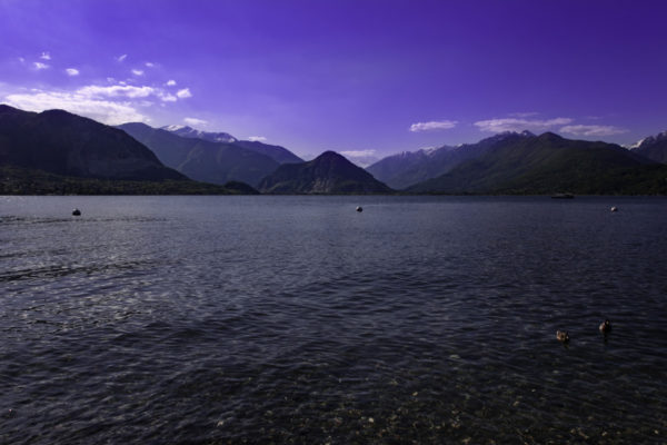 La sera sul lago Maggiore
