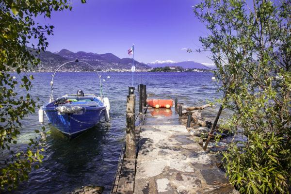 Porticciolo con Barca - Isola dei Pescatori - Lago Maggiore