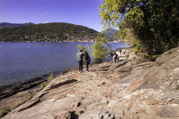 Scogli di roccia sul lago Maggiore - Isola Madre