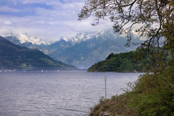 Paesaggio sul Lago di Como da Abbazia