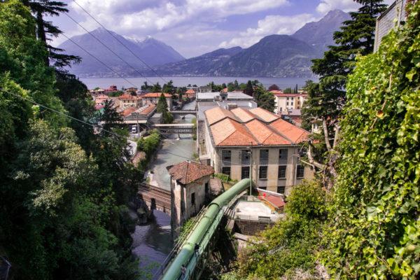 Panorama sul paese di Bellano - Lago di Como - Lombardia