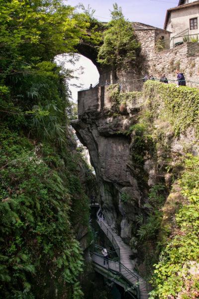 Panorama verso il paese - Canyon Italiano - Orrido di Bellano