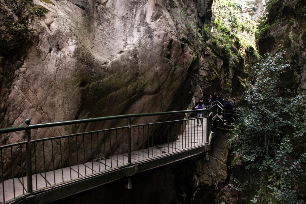 Passerelle di Legno su canyon Lombardia