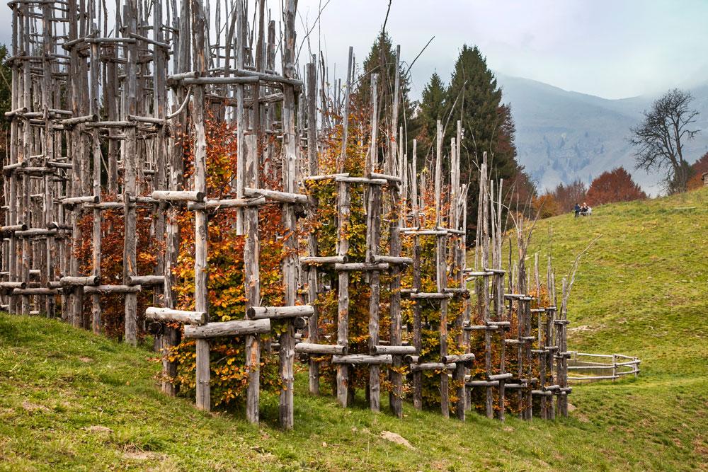 Autunno su Cattedrale Vegetale di Bergamo - Landing Art