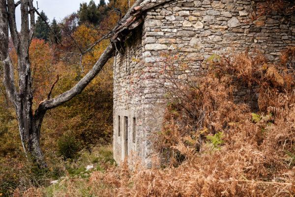 Casetta Abbandonata sulla collina di Bergamo