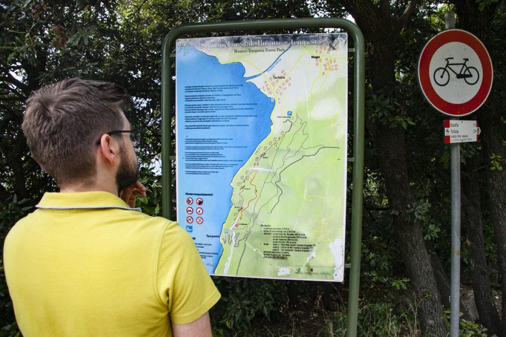Sentiero Forestale Busatte Tempesta - Mappa nella Segnaletica