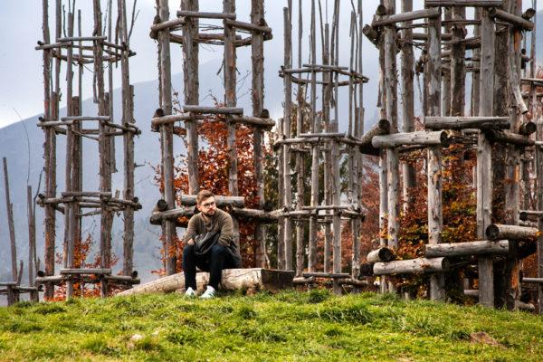 Stefano alla Cattedrale Vegetale di Oltre il Colle