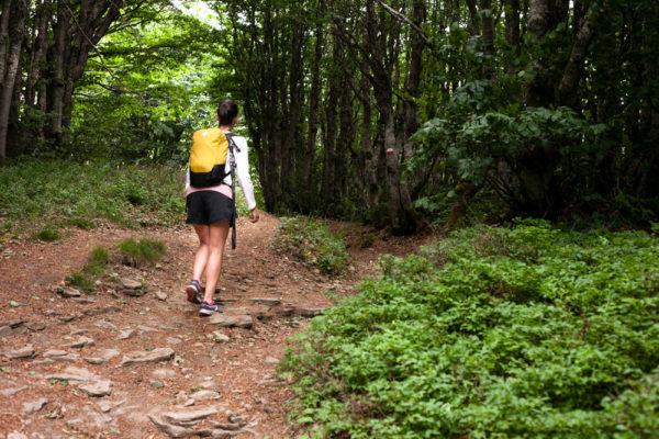 Valentina con zaino da Trekking - Appennino Tosco Romagnolo