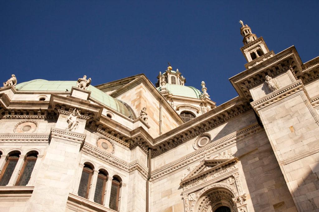Cupole e facciata del Duomo di Como
