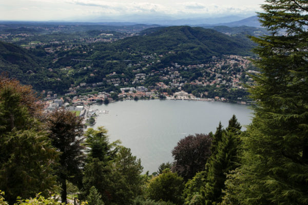 Panorama su Como e Lago di Como