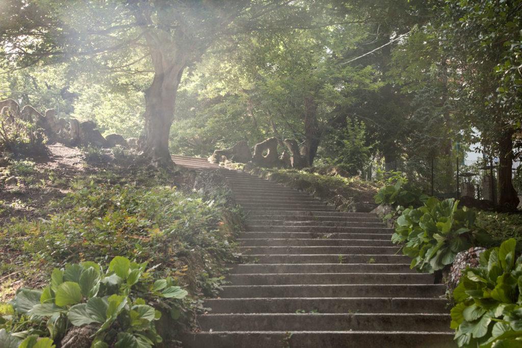 Scalinata Parco Marenghi - Brunate sopra a Como