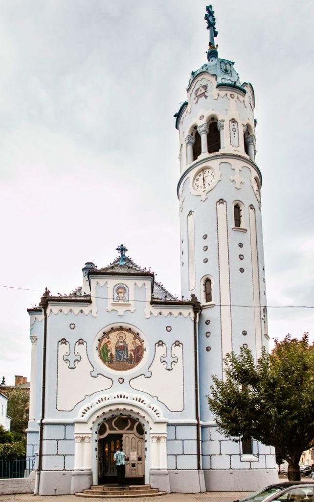Chiesa Blu di Bratislava - Facciata