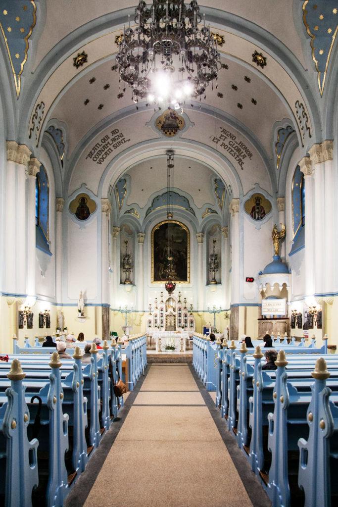 Chiesa Blu di Bratislava - Interni