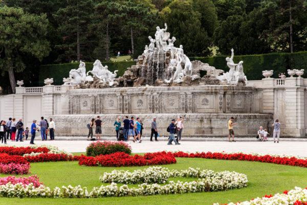 Fontana del Nettuno e parterre