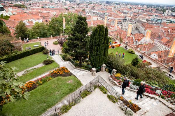 Giardini Pensili e Graz dall'Alto