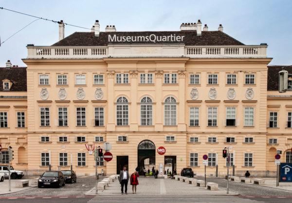 Ingresso al Museum Quartier di Vienna
