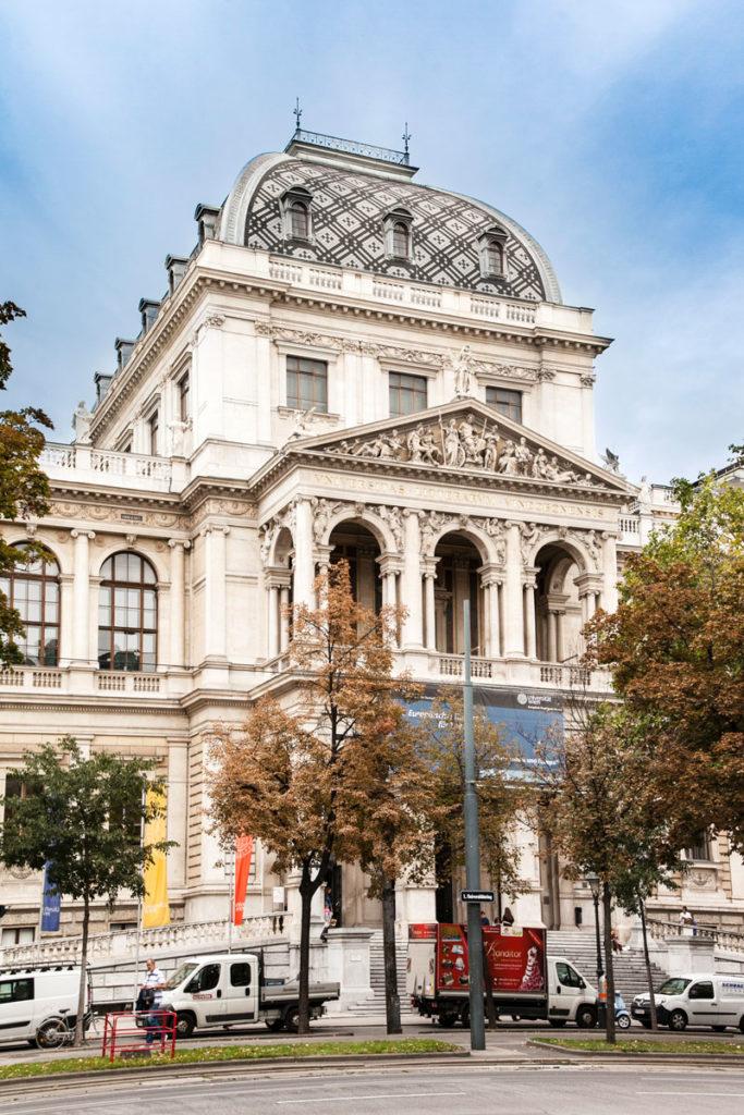 Ingresso al palazzo dell'Universitat - Vienna