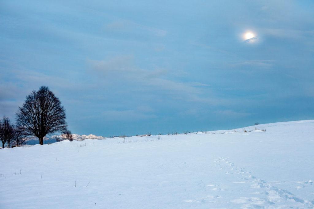 Luna e Neve sulle Montagne del Trentino - Capodanno