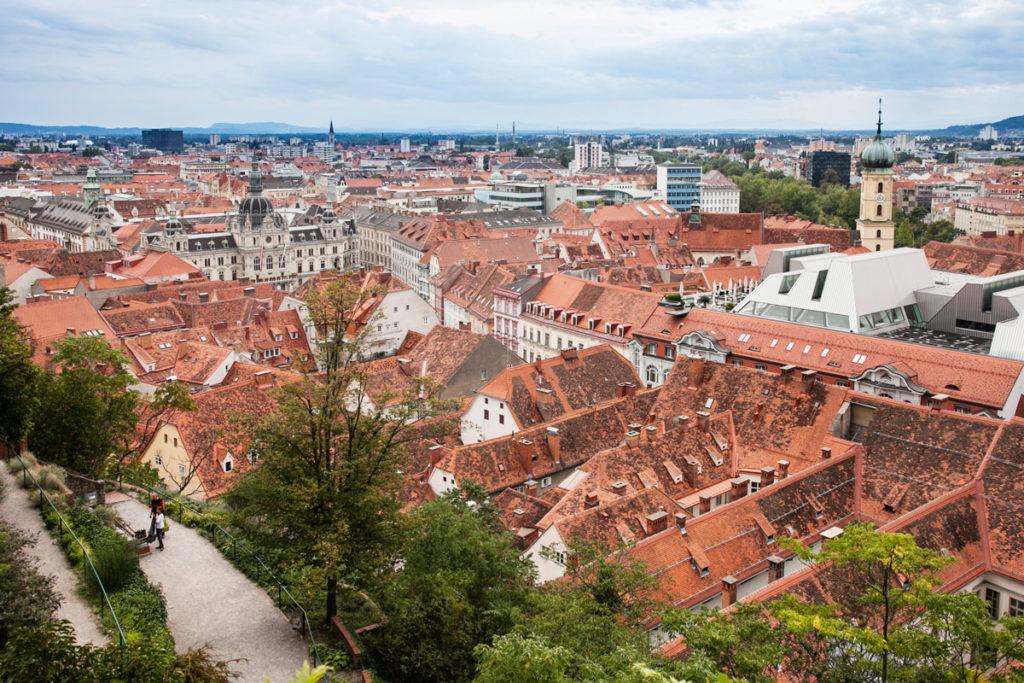 Panorama sul centro storico di Graz