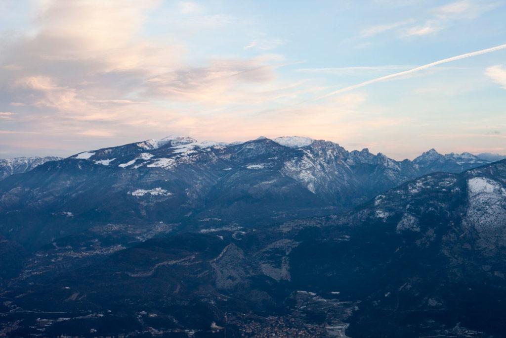 Panorama verso Rovereto dalla Malga Somator
