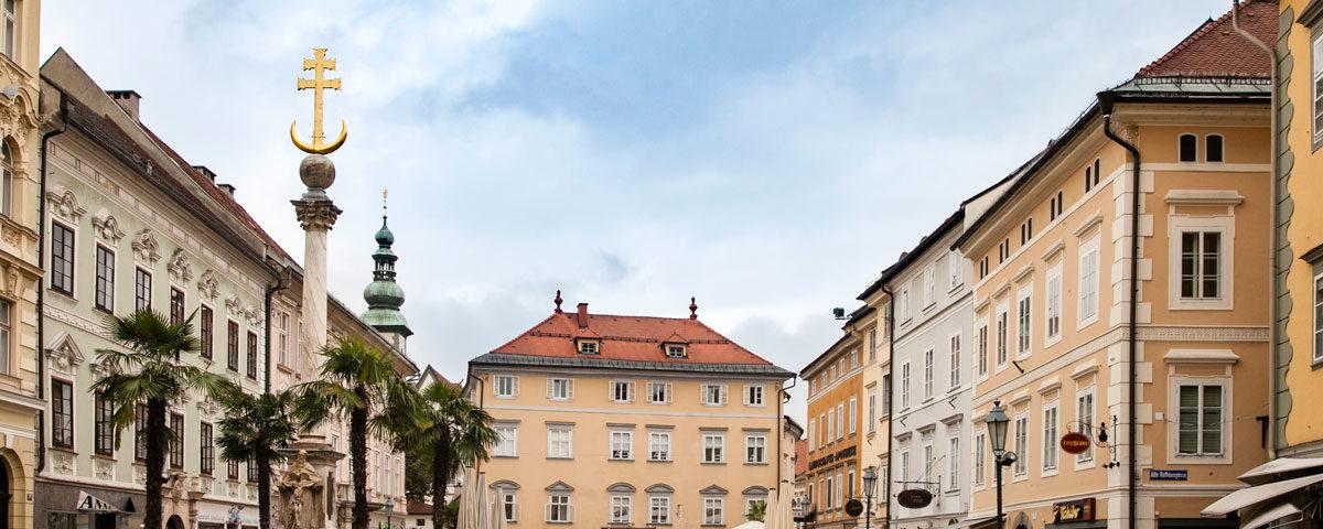 Pestsaule - Colonna della Peste in Alter Platz - Klagenfurt