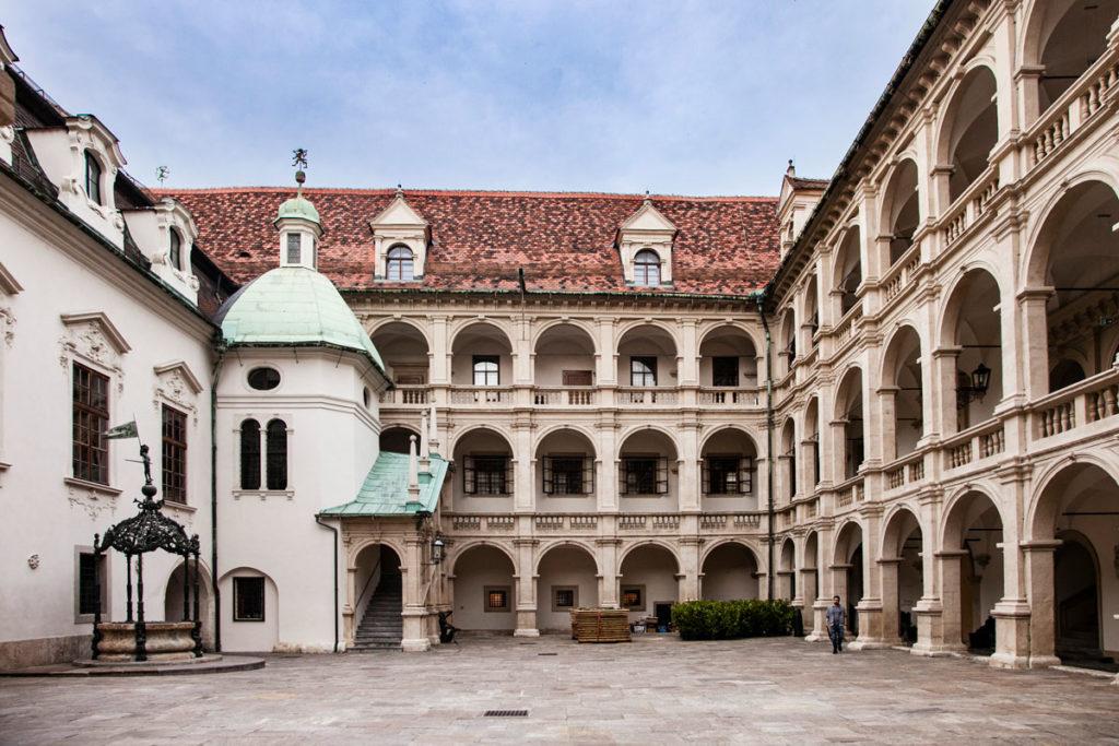 Progetto di architetto italiano - Cortile del Landhaushof - Graz