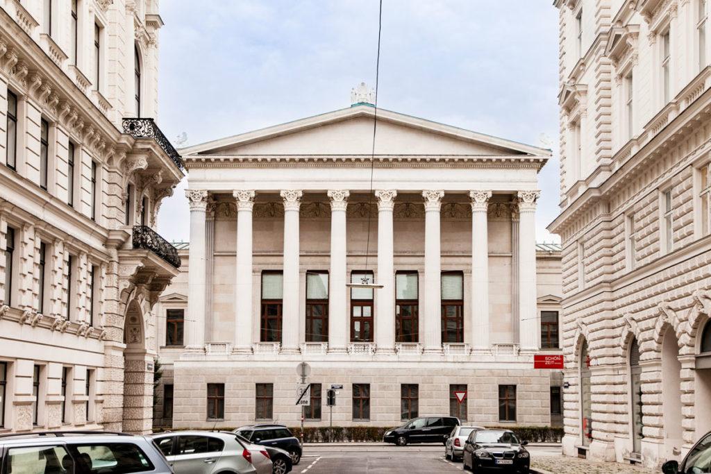 Retro del palazzo del parlamento