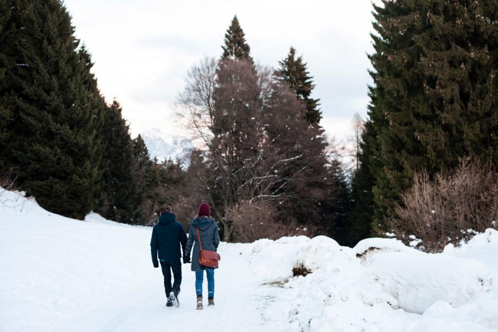 Ritorno verso Rovereto tra la Neve