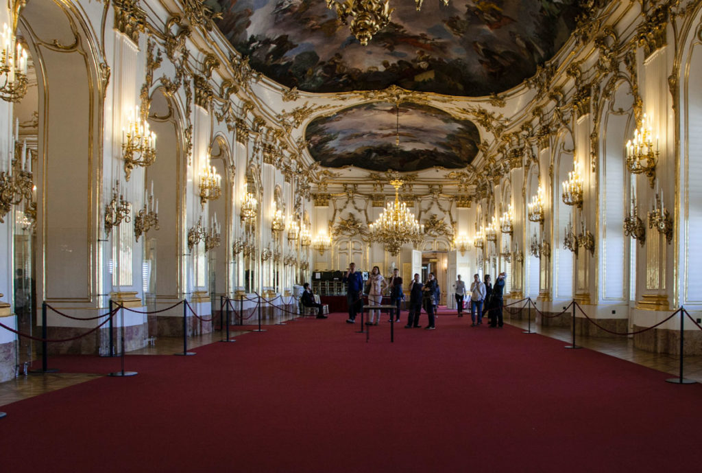 Sala Interna al Castello di Schonbrunn