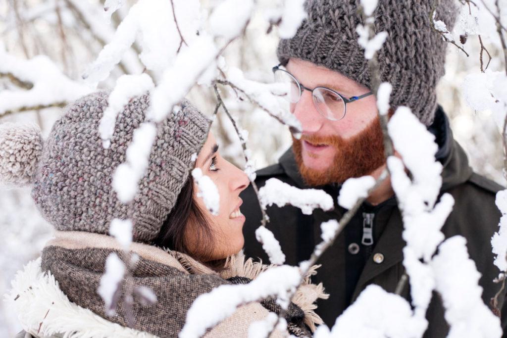 Valentina e Francesco - Ritratto di Coppia tra la Neve
