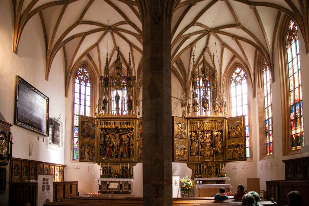 Altare targogotico della chiesa parrocchiale di Hallstatt