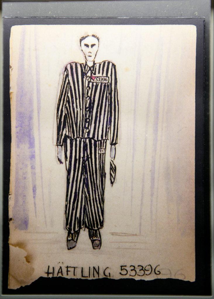 Bozzetto abbigliamento internati - Museo di Mauthausen