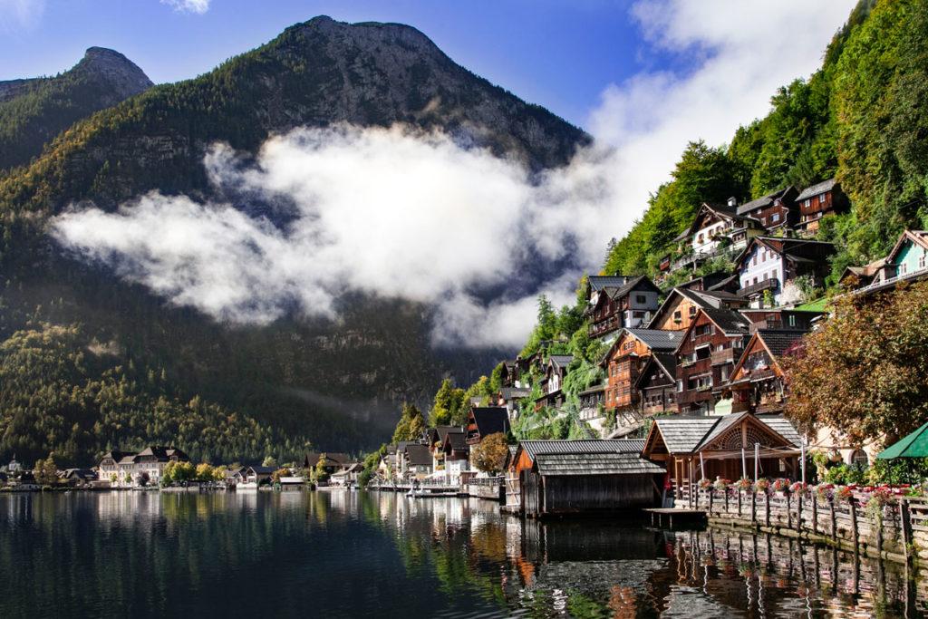 Centro storico di Hallstatt - vista lago