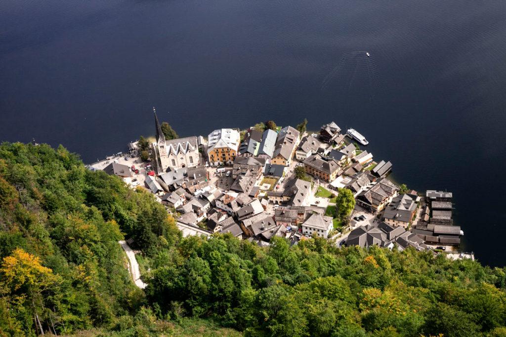 Centro storico di Hallstatt dall'alto
