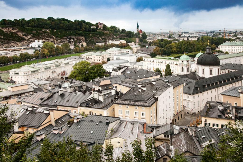 Città Nuova di Salisburgo dall'Alto