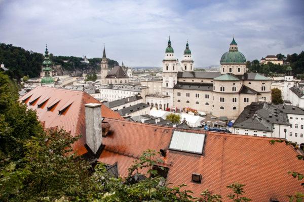 Duomo e centro storico di Salisburgo dall'Alto