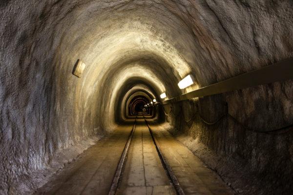 Ingresso alle grotte della miniere di sale
