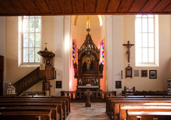 Hallstatt Interni chiesa evangelica di Cristo