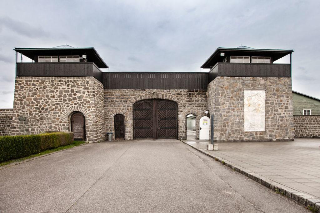 Ingresso al Schutzhaftlager - Campo per prigionieri di Mauthausen
