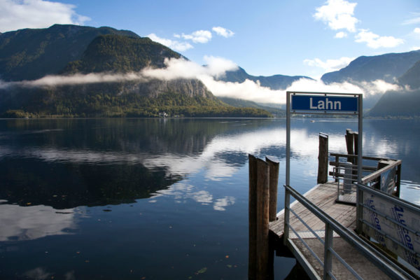 Lahn porto sul lago di Hallstatt