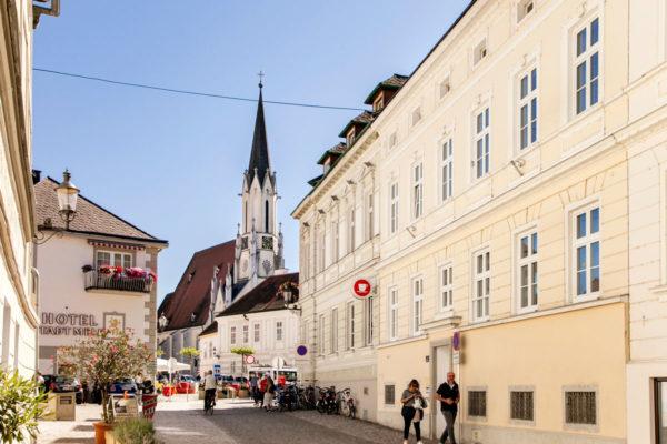 Melk ingresso al centro storico e Maria Himmelfahrt Kirche