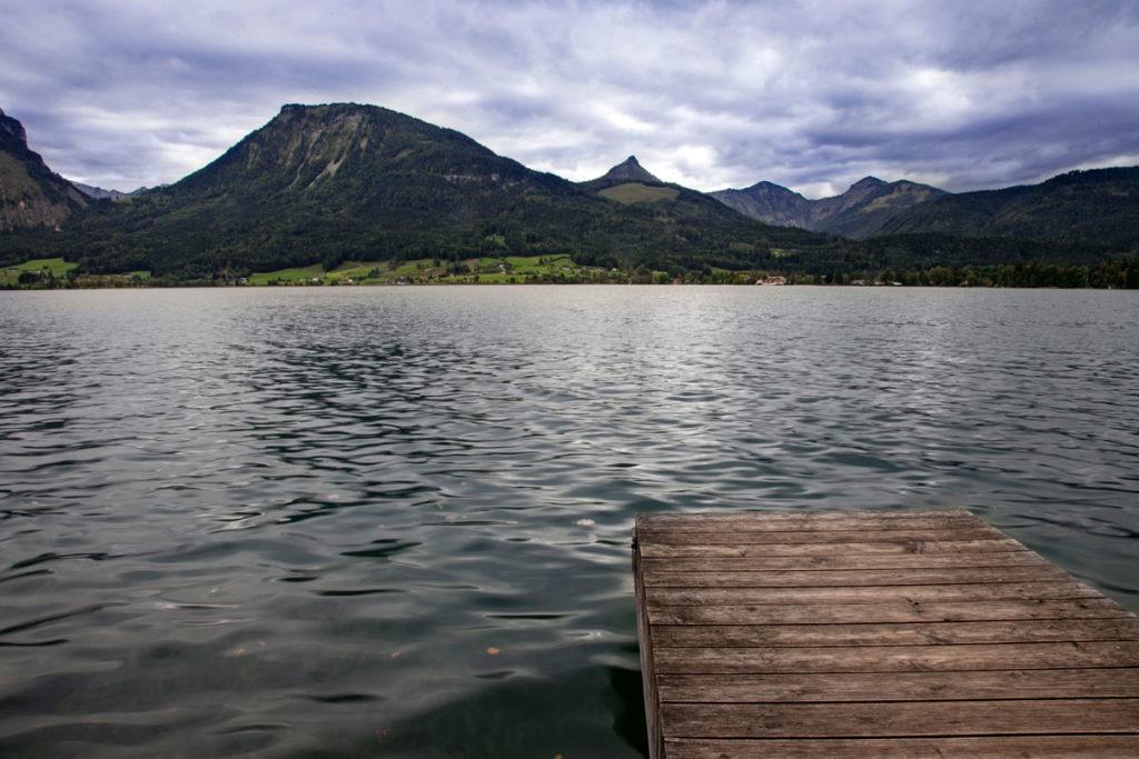Molo e panorama sul Wolfgangsee
