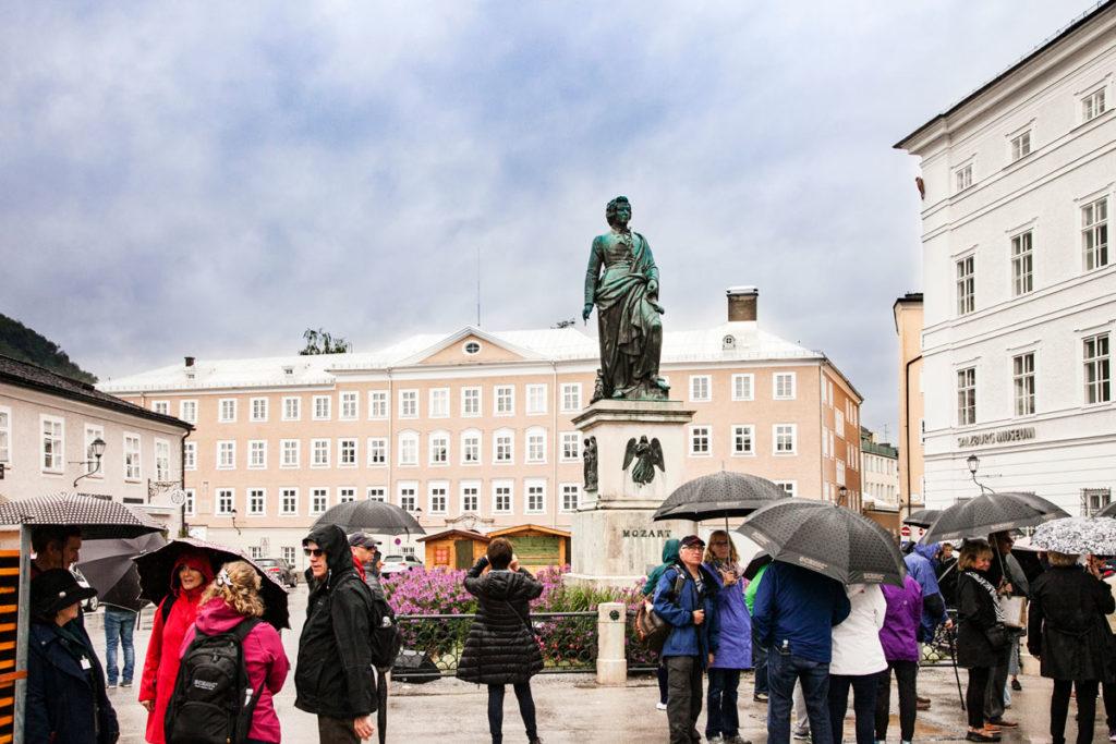 Mozartplatz - Statua di Mozart - Salisburgo